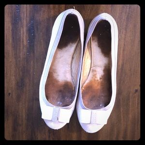 Kate Spade cream/peach flats